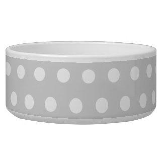 Light Gray and White Polka Dot Pattern. Bowl