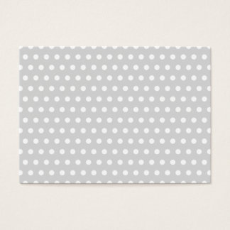 Light Gray and White Polka Dot Pattern. Business Card
