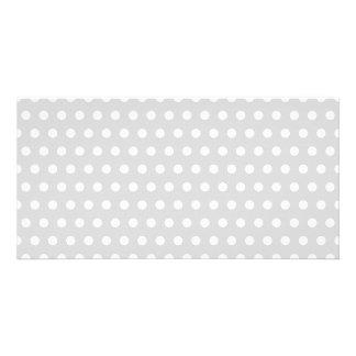 Light Gray and White Polka Dot Pattern. Card