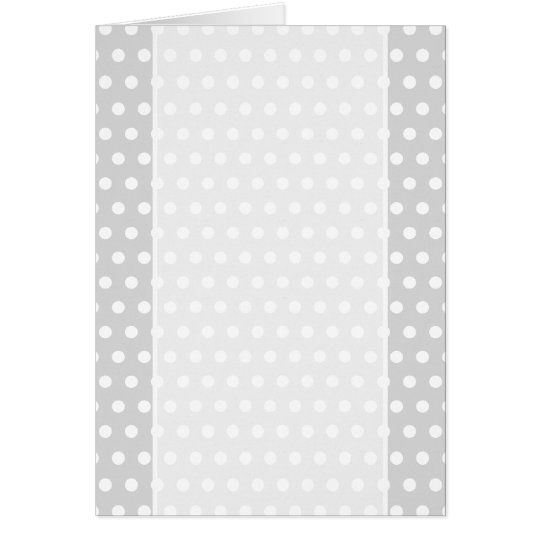 Light Gray and White Polka Dot Pattern. Card