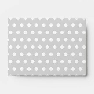 Light Gray and White Polka Dot Pattern. Envelopes
