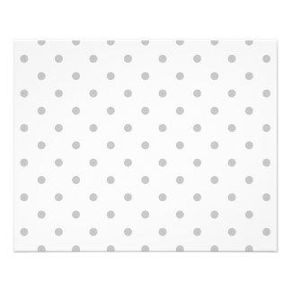 Light Gray and White Polka Dot Pattern. Flyer