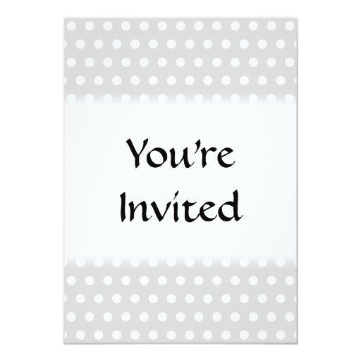 Light Gray and White Polka Dot Pattern. 5x7 Paper Invitation Card