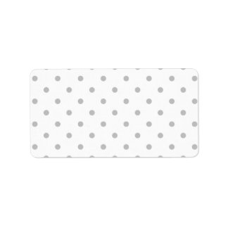 Light Gray and White Polka Dot Pattern. Custom Address Label