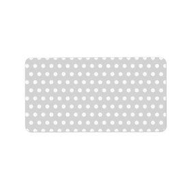 Light Gray and White Polka Dot Pattern. Address Label