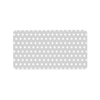 Light Gray and White Polka Dot Pattern. Label