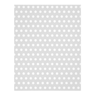 Light Gray and White Polka Dot Pattern. Letterhead