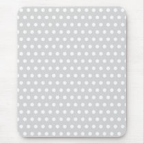 Light Gray and White Polka Dot Pattern. Mouse Pad