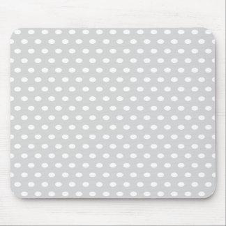 Light Gray and White Polka Dot Pattern. Mousepad