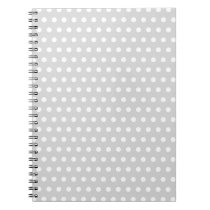 Light Gray and White Polka Dot Pattern. Notebook