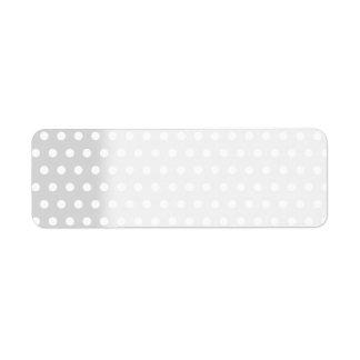 Light Gray and White Polka Dot Pattern. Return Address Label