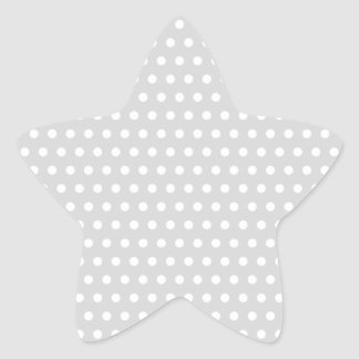 Light Gray and White Polka Dot Pattern. Star Sticker