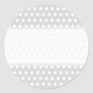 Light Gray and White Polka Dot Pattern. Classic Round Sticker