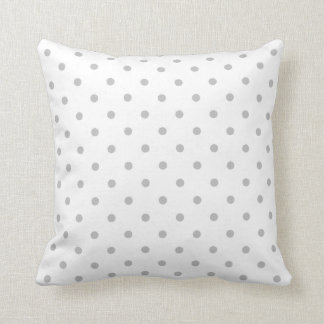 Light Gray and White Polka Dot Pattern. Throw Pillow