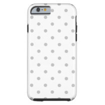Light Gray and White Polka Dot Pattern. Tough iPhone 6 Case