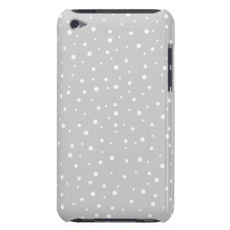 Light Gray and White Spotted Pattern. iPod Touch Case-Mate Case