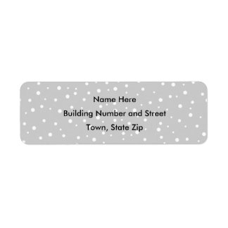 Light Gray and White Spotted Pattern. Return Address Label