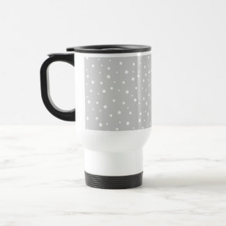 Light Gray and White Spotted Pattern. Travel Mug