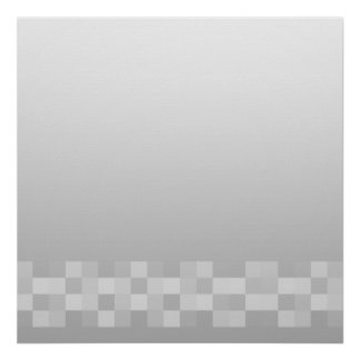 Light Gray and White Squares Pattern. Poster