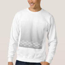 Light Gray and White Squares Pattern. Sweatshirt