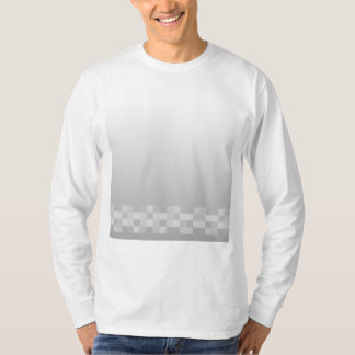 Light Gray and White Squares Pattern. T-Shirt