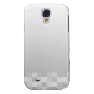 Light Gray and White Squares Pern. Galaxy S4 Case
