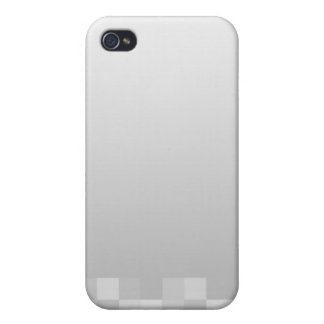 Light Gray and White Squares Pern. iPhone 4 Covers