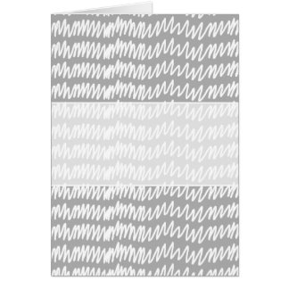 Light gray and white squiggle pattern. card