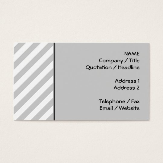 Light Gray and White Stripes. Business Card