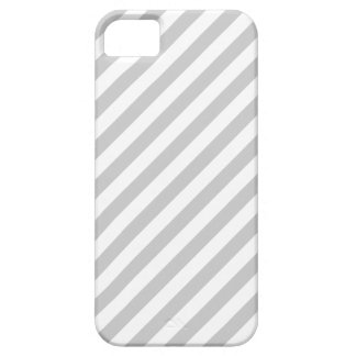 Light Gray and White Stripes. iPhone 5 Cases