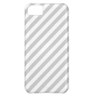 Light Gray and White Stripes. Cover For iPhone 5C