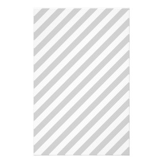 Light Gray and White Stripes. Stationery