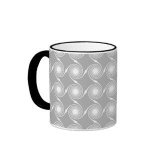 Light Gray and White Swirl Pattern. Coffee Mug
