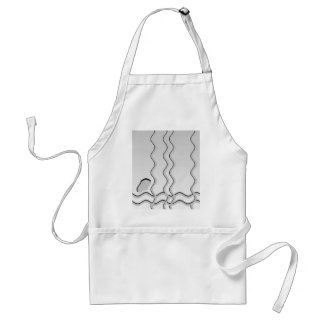 Light Gray and White Wavy Pattern. Aprons