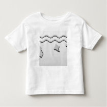 Light Gray and White Wavy Pattern. Toddler T-shirt
