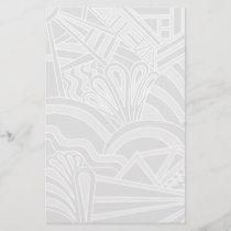 Light Gray Art Deco Style Design.
