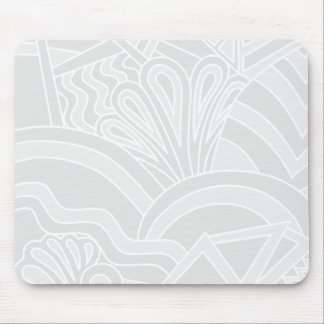 Light Gray Art Deco Style Design Mouse Pads