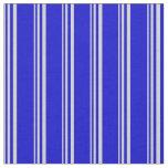[ Thumbnail: Light Gray & Blue Lined/Striped Pattern Fabric ]