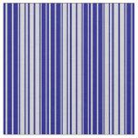 [ Thumbnail: Light Gray & Blue Pattern of Stripes Fabric ]