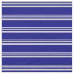 [ Thumbnail: Light Gray & Blue Striped/Lined Pattern Fabric ]