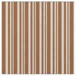 [ Thumbnail: Light Gray & Brown Colored Lines Fabric ]