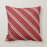 [ Thumbnail: Light Gray & Brown Lines Throw Pillow ]