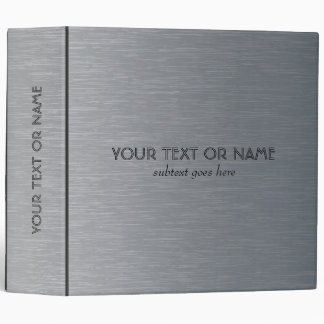 Light Gray Brushed Aluminum Metal Pattern-Template Binder