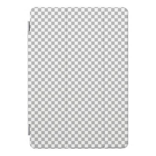 Light Gray Check Pattern iPad Pro Cover