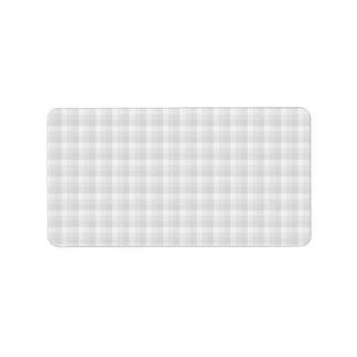 Light Gray Check Pattern. Label