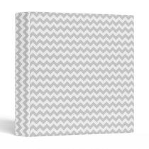 Light Gray Chevron (thin lines) Pattern 3 Ring Binder