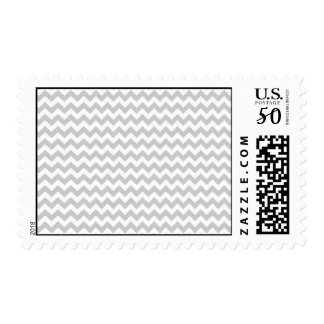 Light Gray Chevron (thin lines) Pattern Postage