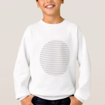 Light Gray Chevron (thin lines) Pattern Sweatshirt