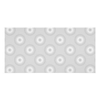 Light Gray Circles Pattern. Photo Greeting Card