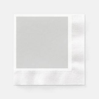Light Gray Coined Cocktail Paper Napkin